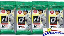 (4) 2018 Donruss Baseball Sealed JUMBO FAT PACK Lot-120 Cards-1984 Blue HOLO