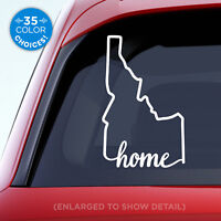 "Idaho State ""Home"" Decal - ID Home Car Vinyl Sticker - Add a heart over a city!"