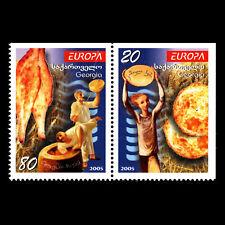 Georgia 2005 - EUROPA Stamps - Gastronomy - Sc 363/4 MNH