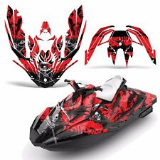 Decal Graphic Kit Wrap Jetski Rotax Bombardier Sea-Doo 3up Spark 2015+ REAP RED