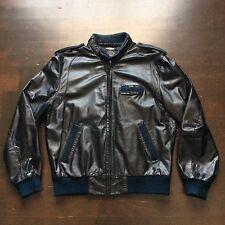 Vintage Members Only Europe Craft Cafe Racer 80s Black Leather Jacket Mens 42 M