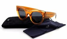 NEW Authentic CELINE Ladies Transparent Orange Grey Sunglasses CL 41447/S L7Q IR