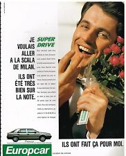 Publicité Advertising 1989 Location de voiture Europcar