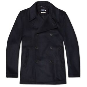 Fred Perry Made in England Pea Coat in Navy Size 42