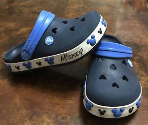 Disney Crocs Junior Clogs Size J2-blue Color