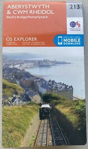 Aberystwyth & Cwm Rheidol Odnance Survey Explorer Map 213. 2015