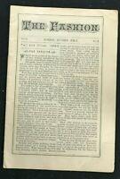 THE FASHION Magazine - Fall 1888 / Winter 1889 - Newark NJ - Amazing Period Ads