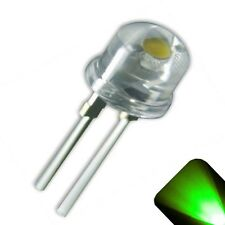 10 x LED 8mm Pure Green .5 Watt Wide Angle Bright High Power LEDs 0.5w half 1/2
