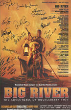 BIG RIVER Broadway Signed Poster WALTER CHARLES Michael McElroy Gwen Stewart +++