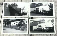 Vtg Photograph Lot of 4 Old Dodge Truck Camper Pop Up Caravan Wagon 1940s 1960s