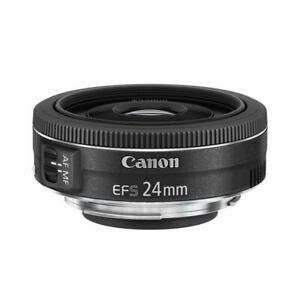 Canon Obiettivo Pancake EF-S 24mm F/2.8 STM per fotocamere APS-C Nero