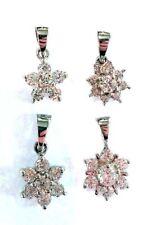 Flowers Plants CZ Round Costume Necklaces & Pendants