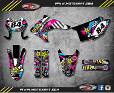 Honda CRF 150 F 2015 - 2017 Custom Graphic kit RUSH style decals / stickers