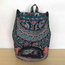 100% Cotton Fabric Backpack Handbag Shoulder Mandala Handmade Travel School Art