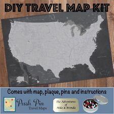 DIY Stormy Dreams USA Push Pin Travel Map Kit