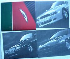 Prospekt Aston Martin Volante, Vantage, DB 7, 1994, 38 S.+ 3 Datenblätter, groß