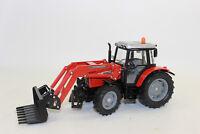 Siku 3653 MF Massey Traktor mit Frontladergabel 1:32