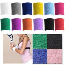 11 Farben Unisex Frottee Baumwolle Schweißband Handgelenk Yoga Schweiß Armband