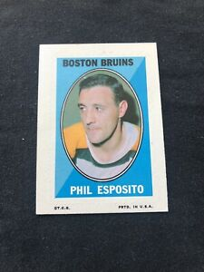 1970-71 Topps OPC O-Pee-Chee Phil Esposito Hockey Sticker Stamp #6 Boston Brui