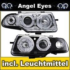 Angel Eyes DE Scheinwerfer Opel Astra F Limousine, Caravan, Cabrio Chrom Schwarz