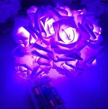 20/10 LED Rose Flower Fairy Wedding Party Christmas Decor Xmas String Lights