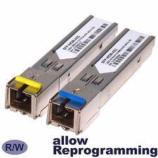 "40 km SFP WDM BiDi 1G 40km ""SC"" GLC-BX-D GLC-BX-U transceiver -1pair (2 modules)"