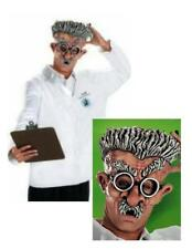 Mindstein Eccentric Professor Latex 1/2 Mask & Lab Shirt Doctor Coat Costume N8