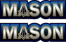 "ProSticker 007.6L (Two) 1.75"" x 6"" Masonic Freemason Mason Decals Stickers"