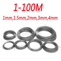 1-100M 1mm 1.5mm 2mm 3mm 4mm Stainless Steel Wire Rope Cable Railings 7x7 D!