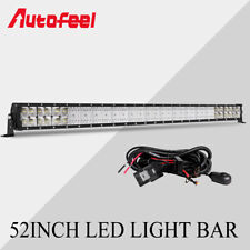 "10D + 52"" Inch  LED Light Bar 6272W Flood Spot Combo Work Fog Driving PK 50"" 54"""