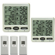 Funk Thermometer FT0073 TWIN (2 LCD Displays) mit 3 Aussensensoren Luftfeuchte