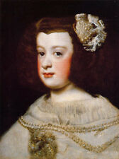 Nice Oil painting Diego Velazquez - Young girl portrait Infanta Maria Teresa