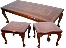3er Set antik-look orient 1x Couchtisch 2x Beistelltisch Tisch table Messing PKB