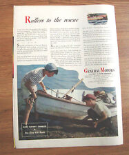 1945 GM General Motors Ad WW II Theme   Rollers to the Rescue