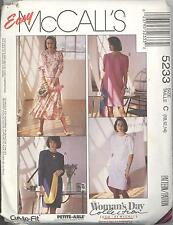 McCall's 5233 Misses' One or Two Piece Dresses  10, 12, 14   Sewing Pattern