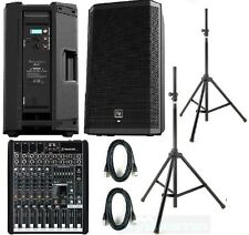 EV ZLX12p Mackie Pro fx8 complete active pa system stands & cables Electrovoice