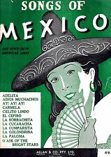 SONGS of MEXICO & LATIN AMERICA Sheet Music Book LA CUCARACHA ++ VGC+