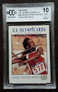 1992 Impel Olympic Card Jackie Joyner-Kersee Track & Field Graded BCCG 10 PSA