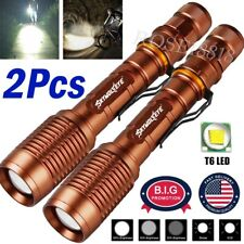 2Pack 90000LM Tactical 5 Modes  LED 18650 Flashlight Zoom Torch Aluminum Light