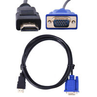 HDMI to VGA HD-15 D-SUB Cable Converter Adapter Lead for PC Laptop 1080p HDTV