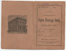 1893 Bank Book from the Union Savings Bank of Oakland CA