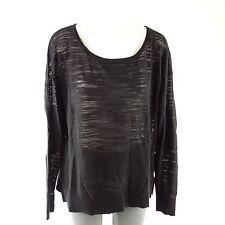 Denham Pull Gerçure taille L 40 noir coton patch de qualité NP 169 NEUF