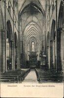 Postkarte Ansichtskarte sw ungelaufen Düsseldorf Inneres der Dominikaner Kirche
