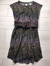 H&M Zara Tunic Basic Chic Dress Ethnic Print Short Sleeves Multicolour Size S