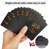 Creative Waterproof Black Plastic PVC Poker Playing Cards Magic Table Board Game