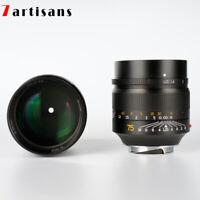 7artisans 75mm F1.25 Manual Focus Lens for Leica M-Mount Cameras Leica M2 M3 HOT