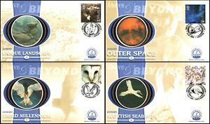 2000 GB Above & Beyond January Benham FDC BS1-4  Millennium Collection Ltd Ed