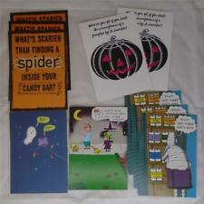 RECYCLED PAPER HALLOWEEN HOLIDAY GREETING CARD LOT of 10 NEW FREE SHIPPING FL