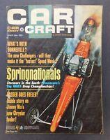 Car Craft Magazine August 1965 Springnationals Vintage Hot Rodding Drag Racing