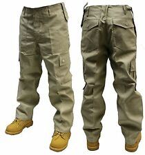 "40"" INCH WAIST BEIGE CREAM ARMY CARGO COMBAT TROUSERS PANTS"